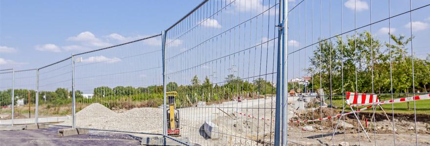 zone de travaux barrières de protection